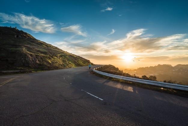 Road curve landscape Free Photo