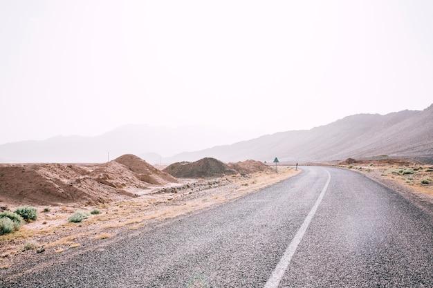 Road in desert landscape in morocco Free Photo
