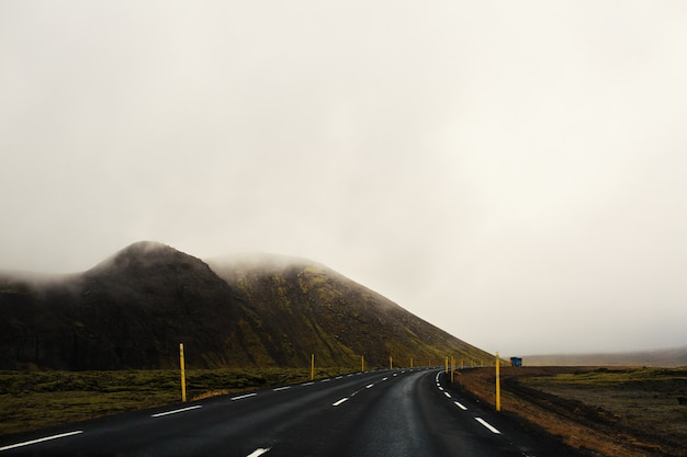 Road in the fog Free Photo