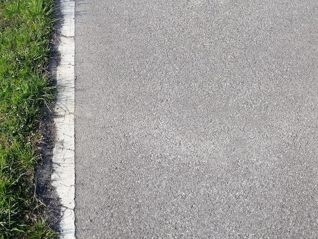 Road and grass background Premium Photo