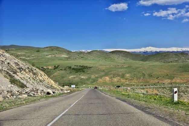 The road in mountains of the caucasus, armenia Premium Photo