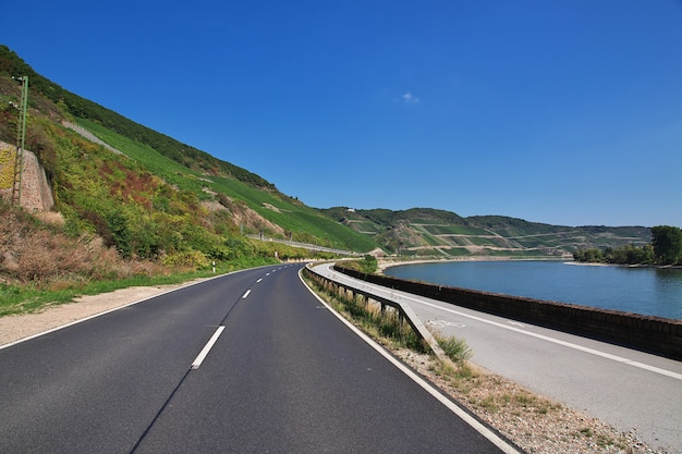 The road in rhine valley in west germany Premium Photo