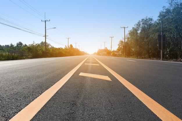 Road for transportation on road Premium Photo