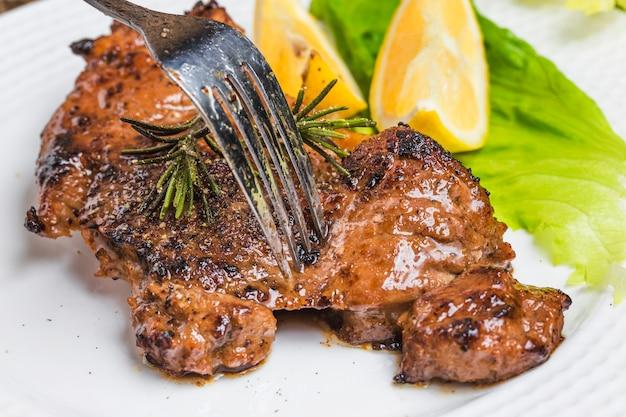 Roast steak Free Photo