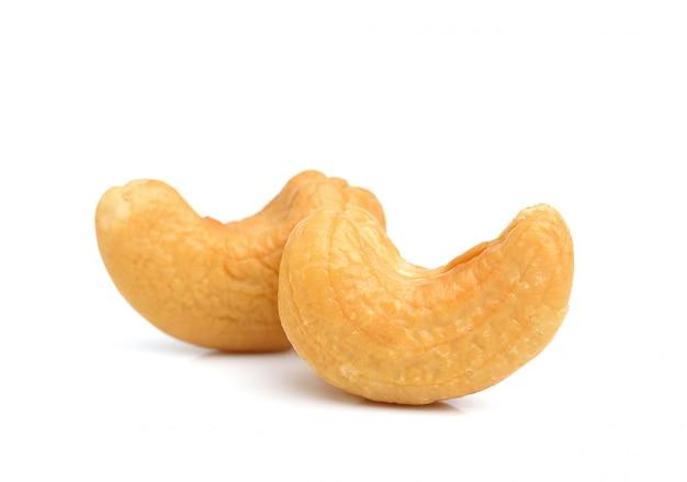 Roasted cashew nuts isolated Premium Photo