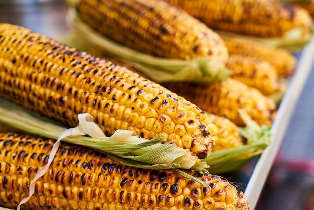 Roasted corncobs Free Photo