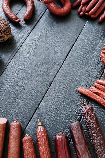 Жареные колбаски Бесплатные Фотографии