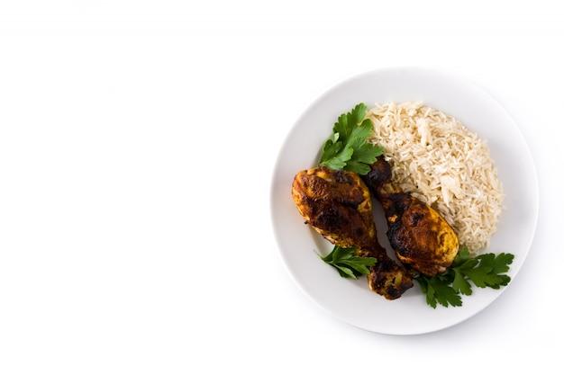 Roasted tandoori chicken Premium Photo