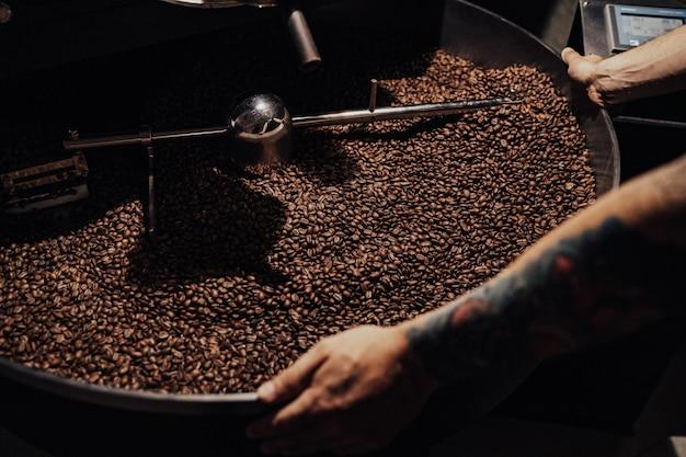 Roasting coffee Premium Photo