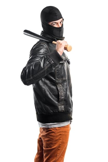Robber playing baseball Free Photo