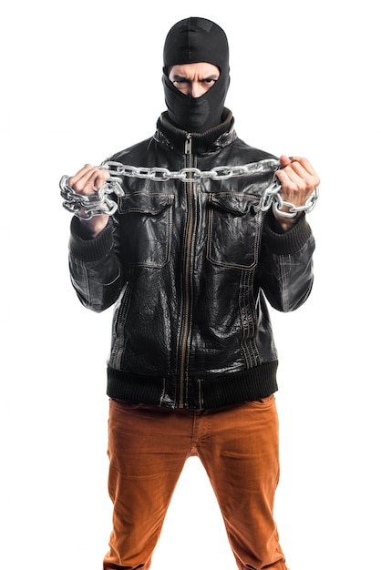 Robber with chains Free Photo