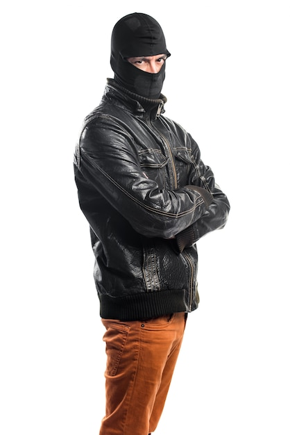 Robber with his arms crossed Free Photo