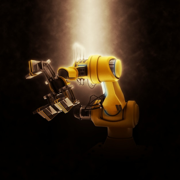 Robot assembly line Free Photo