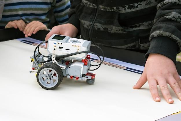 Robot car, robotics with remote control Premium Photo