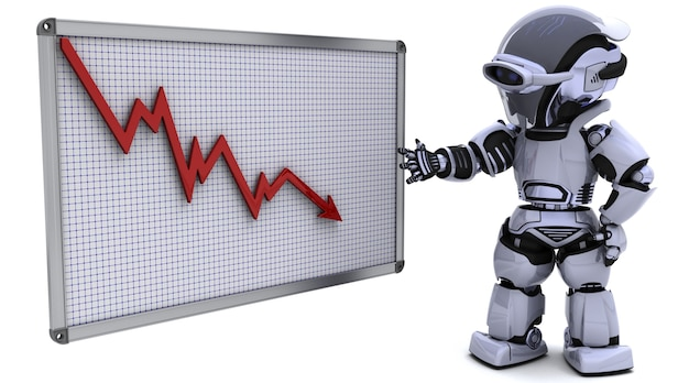 Robot showing low results statistics Free Photo