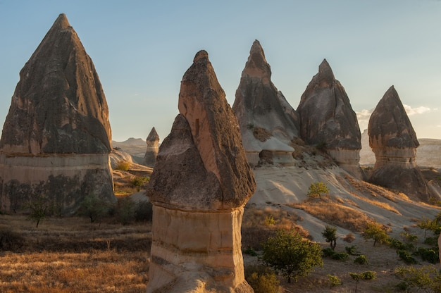 Rock formations in goreme national park in turkey Free Photo