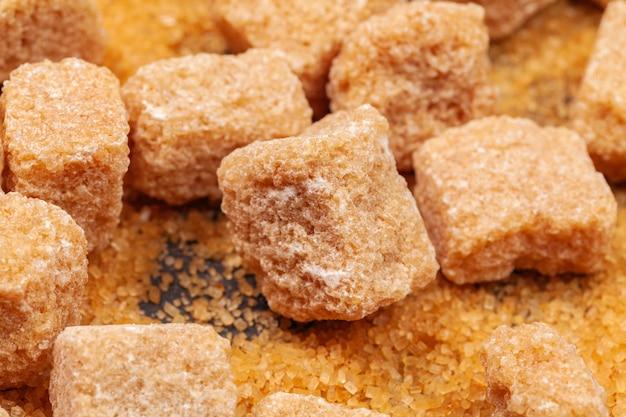 Rock sugar on dark  close up Premium Photo