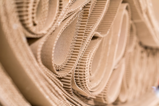Roll Of Wavy Craft Paper Folded In Random Photo Premium Download