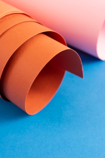 Rolled set of cardboard sheets Free Photo