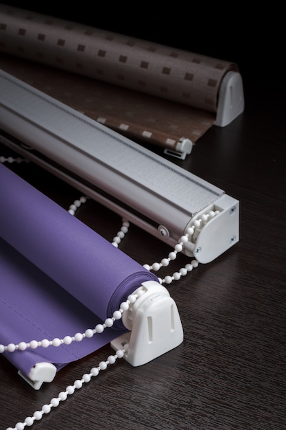 Roller blinds and roman blinds Premium Photo