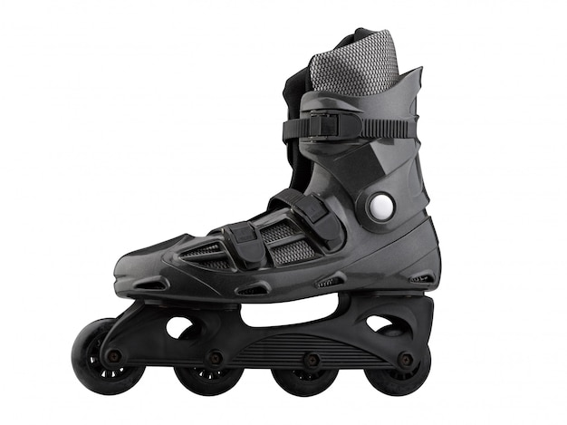 Roller skates black and grey isolated on white Premium Photo