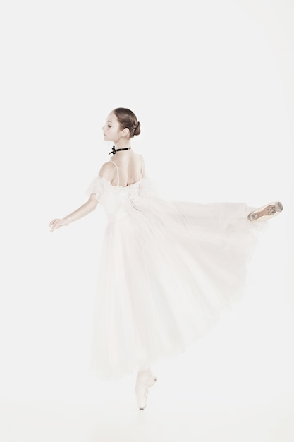 Romantic beauty. retro style ballerina Free Photo