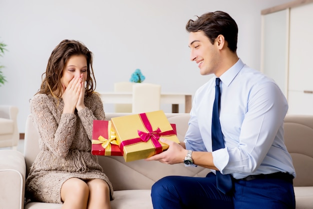 Romantic concept with man making marriage proposal Premium Photo