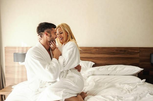 Romantic love on bed
