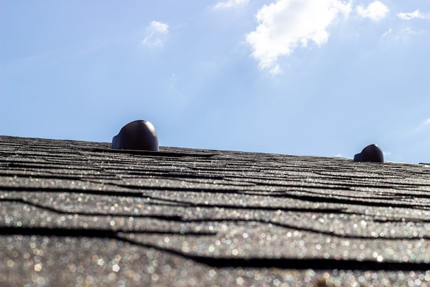 The roof of the house. Premium Photo