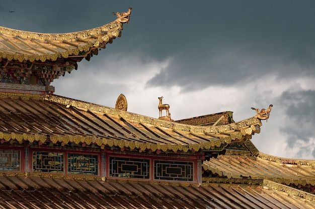 Roof of the jiayuguan fortress in china Free Photo
