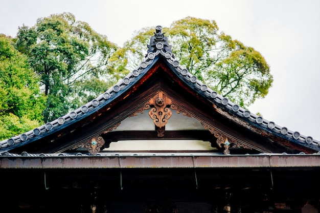 Roof of traditional temple japan Free Photo