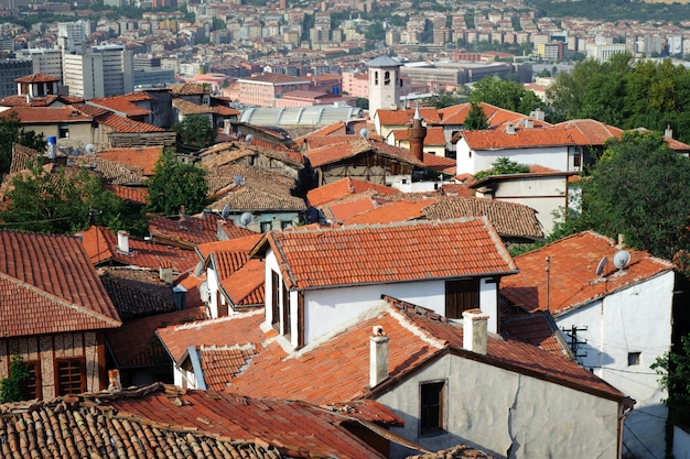Roofs of old ankara Premium Photo
