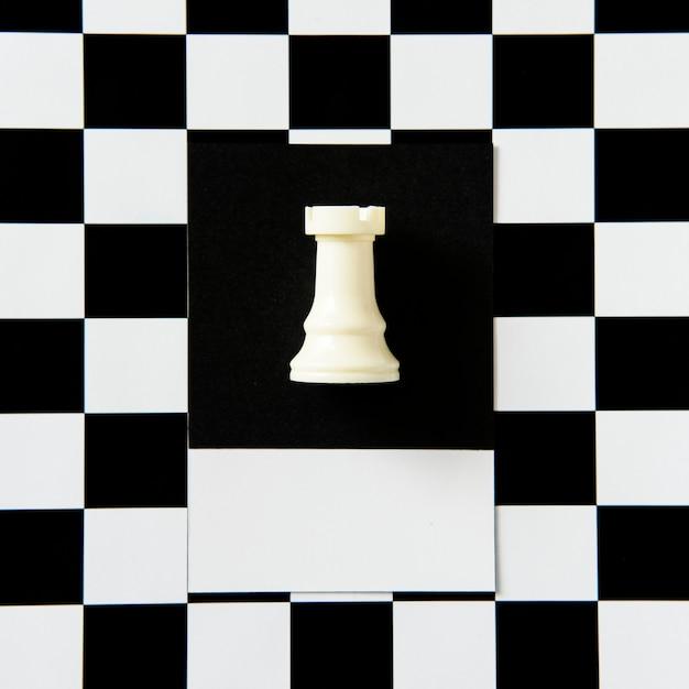 Rook chess piece on a pattern Free Photo