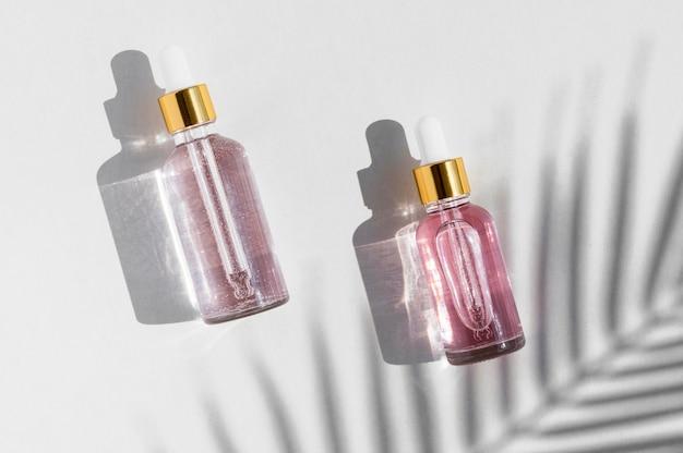 Rose oils spa treatment arrangement cosmetics Premium Photo