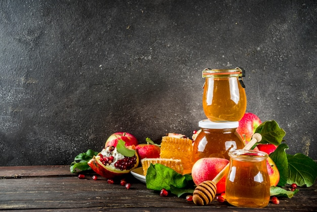 Rosh hashanah celebration background Premium Photo