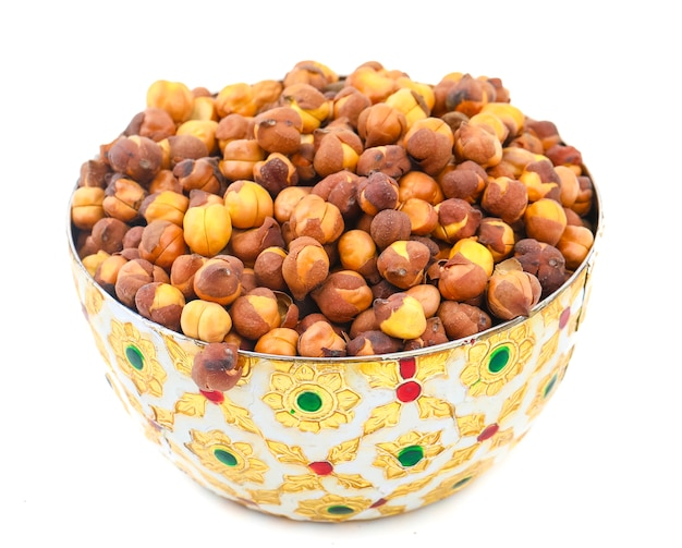 Rosted chana or chickpea Premium Photo