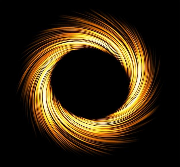 Round fire frame. fire eclipse or fire swirl Premium Photo