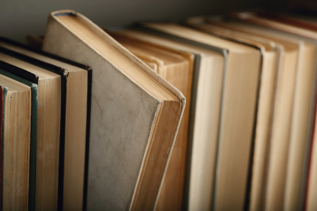Row of books, literature concept Free Photo