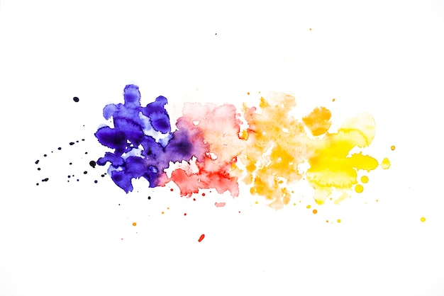 Row of colorful splash watercolor background Free Photo