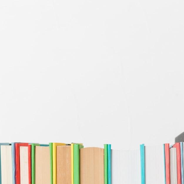 Row of various vivid books Free Photo