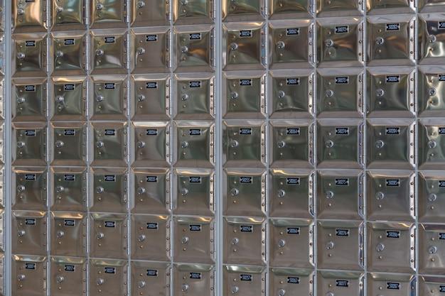 Rows of safe deposit boxes Premium Photo