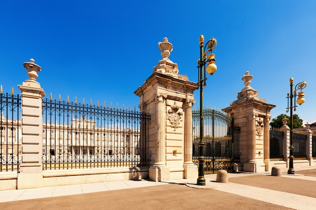 Royal palace in sunny day. madrid Free Photo