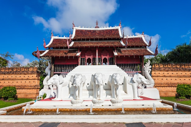 Royal park rajapruek temple in chiang mai in thailand Premium Photo