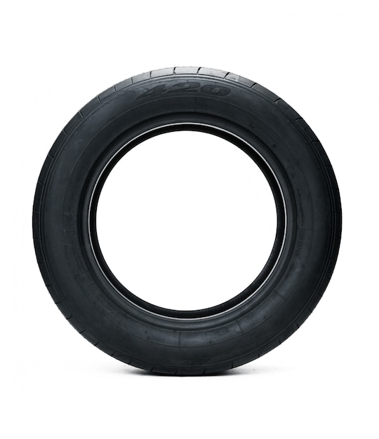 Rubber car tire Premium Photo