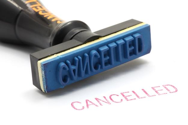 Rubber stamp cancel Premium Photo