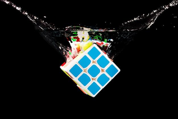 Rubik cube submerged Free Photo