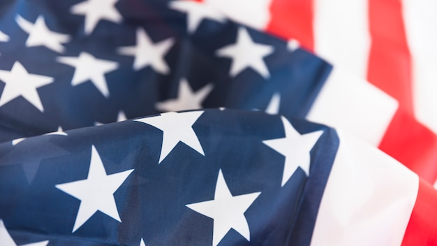 Ruffled american flag Free Photo