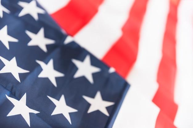 Ruffled flag of usa Free Photo