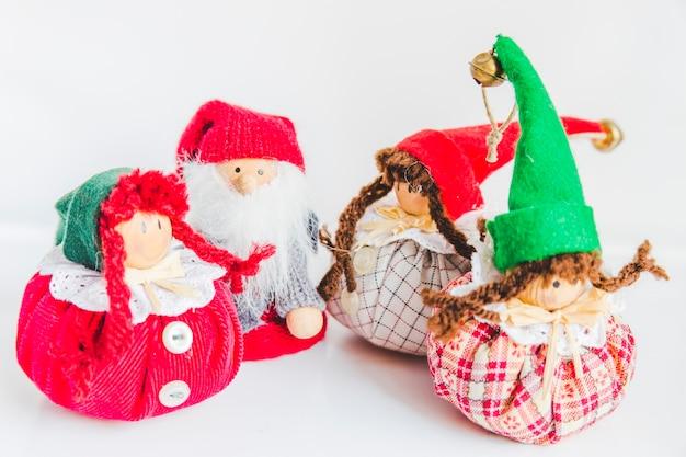 Rug dolls on white background Free Photo