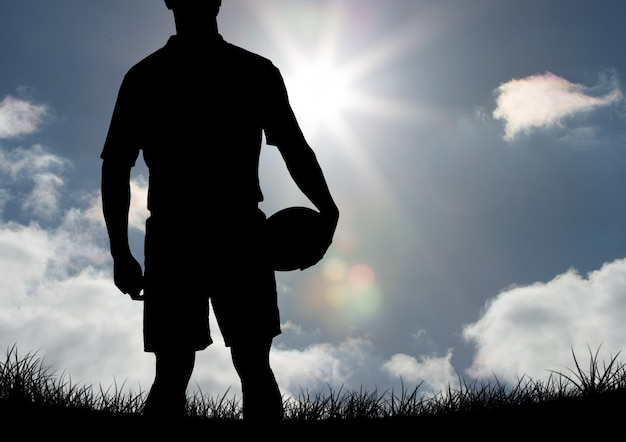 Rugby ball happy player elegant finger | Free Photo